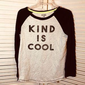 Tops - Kind is cool baseball shirt XL